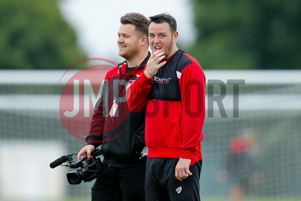 New signing Lee Tomlin looks on as Bristol City train ahead of their 2016/17 Sky Bet Championship campaign - Mandatory by-line: Rogan Thomson/JMP - 15/07/2016 - FOOTBALL - Bristol, England - Failand Training Ground - Bristol City Pre Season Training.