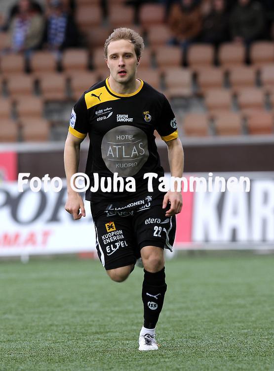 12.5.2012, Sonera Stadion, Helsinki..Veikkausliiga 2012..HJK Helsinki - Kuopion Palloseura..Sander Puri - KuPS
