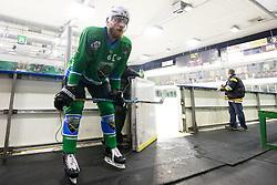 Bostjan Groznik of HK SZ Olimpija during ice hockey match between HK SZ Olimpija and HDD SIJ Acroni Jesenice in AHL - Alps Hockey League 2017/18, on October 25, 2017 in Hala Tivoli, Ljubljana, Slovenia. Photo by Matic Klansek Velej / Sportida