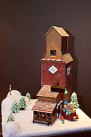 The Laurel Point Inn on the harbour in Victoria, BC, sponsors a gingerbread-house contest each Christmas which draws dozens of professional and amateur entries.