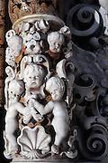 Palermo, S. Maria degli Angeli church, la Gancia, baroque art.<br /> Palermo, chiesa di Santa Maria degli Angeli, decorazioni barocche.