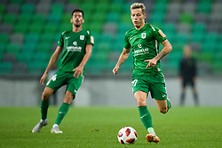 Mario Jurcevic, Stefan Savic during football match between NK Olimpija Ljubljana and Aluminij in Round #9 of Prva liga Telekom Slovenije 2018/19, on September 23, 2018 in Stozice Stadium, Ljubljana, Slovenia. Photo by Morgan Kristan
