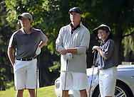 "COOPERSTOWN, NY - JULY 26: 2014 Hall of Fame inductee Tom Glavine and his sons participate in the annual ""Hall of Fame Golf Classic"" at the Leatherstocking Golf Club in Cooperstown, New York on July 26, 2014."