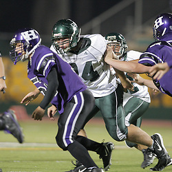 07 November 2008:  Ponchatoula Green Wave DL Zachary Stevenson (#74) The Ponchatoula Green Wave defeated District 7-5A rival the Hammond Tornados 34-13 at Strawberry Stadium in Hammond, LA . The Green Wave with the win clinched a spot in the 2008 playoffs.