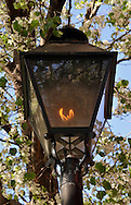 Gas Light on Brooklyn street