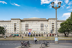 Historic socialist former East German apartment buildings on Karl Marx Allee in Berlin Germany