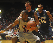 "Ole Miss guard Zach Graham (32)  dribbles as East Tennessee State's Mike Smith (1) defends at the C.M. ""Tad"" Smith Coliseum in Oxford, Miss. on Saturday, December 18, 2010."