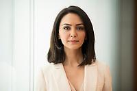 DEU, Deutschland, Germany, Berlin, 16.04.2018: Portrait von Nazanin Boniadi, iranischstämmige Schauspielerin (Homeland) und Menschenrechtsaktivistin.