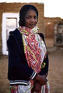 Gennaio 2008.Campo Profughi Saharawi di Dakhla.Ragazza saharawi .<br /> January 2008.The refugee camp of Dakhla.Saharawi Women..