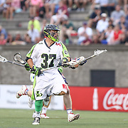 Jerry Ragonese #37 of the New York Lizards controls the ball during the game at Harvard Stadium on July 19, 2014 in Boston, Massachusetts. (Photo by Elan Kawesch)