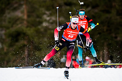 March 24, 2019 - Oslo, NORWAY - 190324 Erlend BjøntegÃ¥rd of Norway competes in the men's 15 km mass start during the IBU World Cup on March 24, 2019 in Oslo..Photo: Jon Olav Nesvold / BILDBYRÃ…N / kod JE / 160428 (Credit Image: © Jon Olav Nesvold/Bildbyran via ZUMA Press)