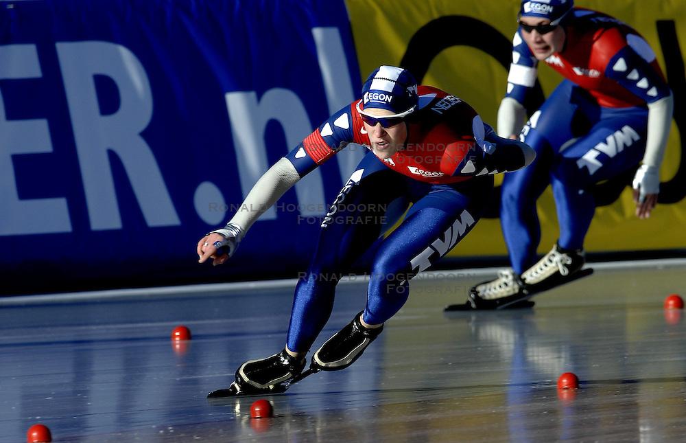 12-01-2007 SCHAATSEN: EUROPESE KAMPIOENSCHAPPEN: COLLALBO ITALIE <br /> Ireen Wust is het Europees kampioenschap allround vrijdag uitstekend begonnen. De schaatsster uit Goirle noteerde in Collalbo op de 500 meter de beste tijd (39,51)<br /> &copy;2007-WWW.FOTOHOOGENDOORN.NL