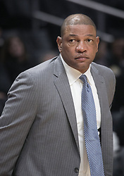 November 30, 2017 - Los Angeles, California, United States of America - Coach, Doc Rivers of the Los Angeles Clippers during their game with the Utah Jazz on Thursday November 30, 2017 at the Staples Center in Los Angeles, California. Clippers lose to Jazz, 126-107. JAVIER ROJAS/PI (Credit Image: © Prensa Internacional via ZUMA Wire)