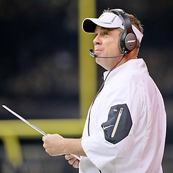 Dec 27, 2015; New Orleans, LA, USA; New Orleans Saints head coach Sean Payton against the Jacksonville Jaguars during the second quarter of a game at the Mercedes-Benz Superdome. Mandatory Credit: Derick E. Hingle-USA TODAY Sports