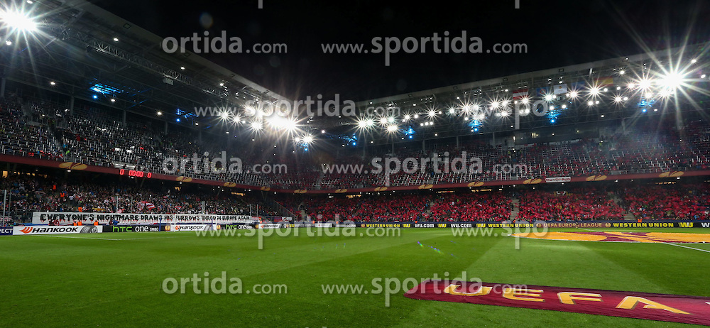 26.02.2015, Red Bull Arena, AUT, UEFA EL, FC Red Bull Salzburg vs Villareal CF, Sechzehntelfinale, Rückspiel, im Bild Stadion Feature// during the UEFA Europa League round of 32, 2nd leg match between FC Red Bull Salzburg and Villareal CF at the Red Bull Arena in Salzburg, Austria on 2015/02/26. EXPA Pictures © 2015, PhotoCredit EXPA/ Roland Hackl