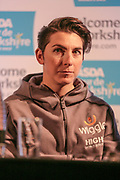 Wiggle High5 Pro Cycling's Giorgia Bronzini during the Tour de Yorkshire Press Conference at the National Railway Museum, York, United Kingdom on 27 April 2017. Photo by Mark P Doherty.