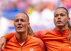 07-07-2019 FRA: Final USA - Netherlands, Lyon<br /> FIFA Women's World Cup France final match between United States of America and Netherlands at Parc Olympique Lyonnais. USA won 2-0 / Stefanie van der Gragt #3 of the Netherlands, Anouk Dekker #6 of the Netherlands