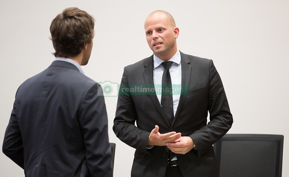 October 4, 2017 - Brussels, BELGIUM - State Secretary for Asylum Policy, Migration and Administrative Simplification Theo Francken pictured during a session of the parliamentary interior commission, at the federal parliament, in Brussels, Wednesday 04 October 2017. Minister Theo Francken has to answer to the questions regarding the migration case in 'Parc Maximilien' 'Maximiliaanpark'. BELGA PHOTO BENOIT DOPPAGNE (Credit Image: © Benoit Doppagne/Belga via ZUMA Press)