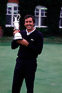SEVE BALLESTEROS WITH TROPHY after winning The Open Championship 1988<br /> 880720/ ROYAL LYTHAM ST. ANNES, UK/ <br /> <br /> Picture Credit:  Mark Newcombe / visionsingolf.com