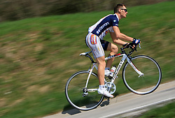 Professional Slovenian rider Grega Bole of Amica Chips cycling club at practice, on April 6, 2009, in Ljubljana, Slovenia.  (Photo by Vid Ponikvar / Sportida)