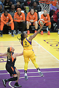 Los Angeles Sparks guard Riquna Williams (2) jumps for a layup during a WNBA basketball game, Friday, May 31, 2019, in Los Angeles.The Sparks defeated the Sun 77-70.  (Dylan Stewart/Image of Sport)