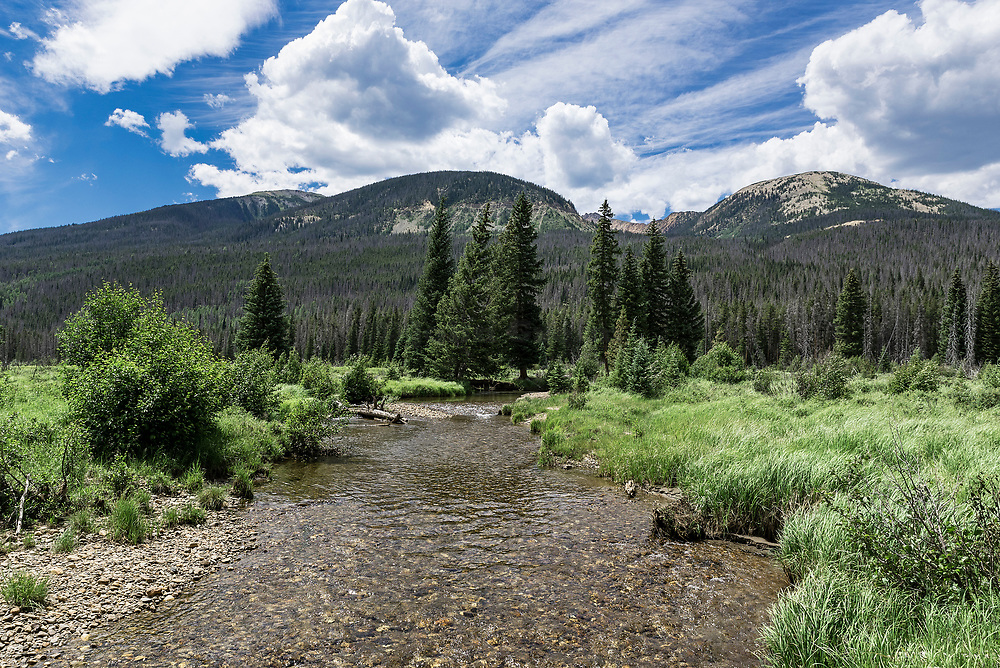 Mountain stream, Rocky Mountain National Park, Colorado, USA.