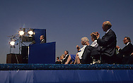 Former President Nixon speaks at the opening of the Nixon Library on July 19, 1990...Photograph by Dennis Brack bb24
