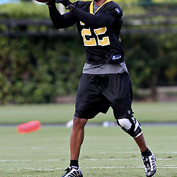 August 9, 2011; Metairie, LA, USA; New Orleans Saints cornerback Tracy Porter (22) during training camp practice at the New Orleans Saints practice facility. Mandatory Credit: Derick E. Hingle