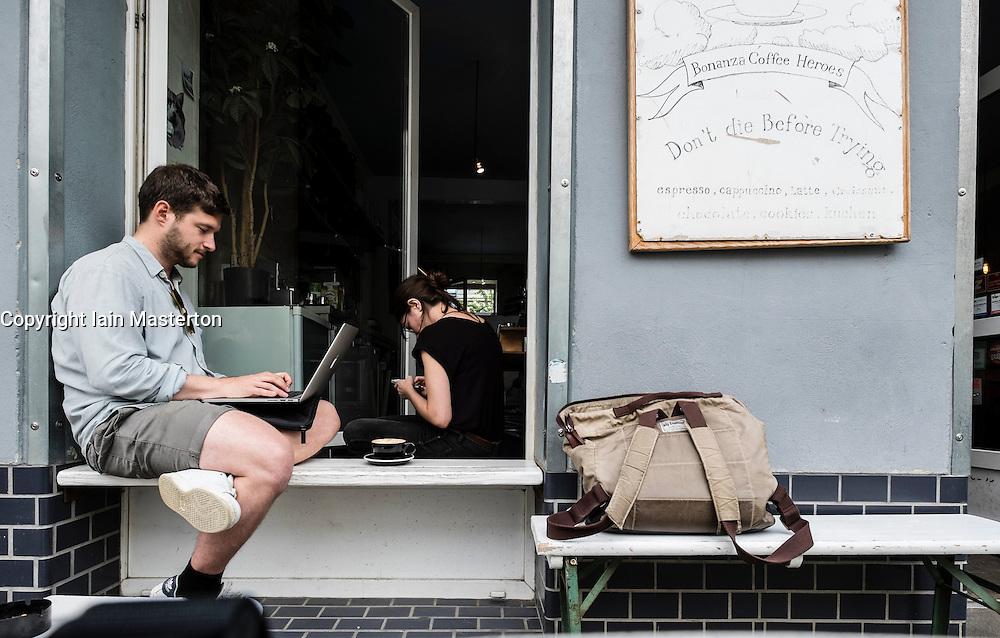 Bonanza Coffee Heroes cafe in Prenzlauer Berg in Berlin Germany