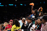 Fans cheer on the New York Liberty against the Phoenix Mercury during the second round of the WNBA Playoffs at Madison Square Garden in New York on September 24, 2016. (Cooper Neill for The New York Times)