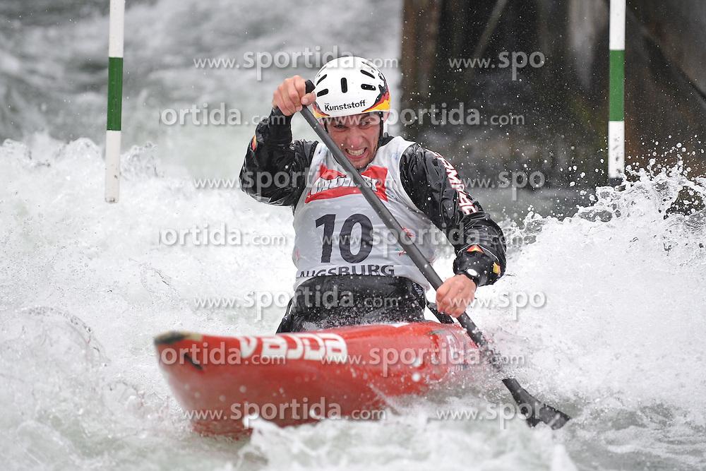 13.05.2012, Eiskanal, Augsburg, GER, ECA, Kanuslalom Europameisterschaft, im Bild Jan Benzien (GER) // during the ECA European Canoe Championships at the Ice channel, Augsburg, Germany on 2012/05/13. EXPA Pictures © 2012, PhotoCredit: EXPA/ Eibner/ Burghard Schreyer..***** ATTENTION - OUT OF GER *****