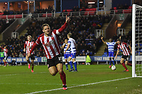 Football - 2019 / 2020 Emirates FA Cup - Fifth Round: Reading vs. Sheffield United<br /> <br /> Sheffield United's Billy Sharp celebrates scoring his side's second goal, at the Madejski Stadium.<br /> <br /> COLORSPORT/ASHLEY WESTERN