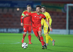 WREXHAM, WALES - Tuesday, November 17, 2015: Wales' Liam Shephard in action against Romania during the UEFA Under-21 Championship Qualifying Group 5 match at the Racecourse Ground. (Pic by David Rawcliffe/Propaganda)