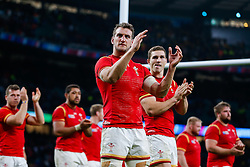 Wales Flanker Sam Warburton (capt) and Winger George North look dejected after South Africa win the match 23-19 - Mandatory byline: Rogan Thomson/JMP - 07966 386802 - 17/10/2015 - RUGBY UNION - Twickenham Stadium - London, England - South Africa v Wales - Rugby World Cup 2015 Quarter Finals.