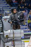 KELOWNA, CANADA - FEBRUARY 23: Orchard Park Zamboni Rider at the Kelowna Rockets game on February 23, 2019 at Prospera Place in Kelowna, British Columbia, Canada. (Photo By Cindy Rogers/Nyasa Photography, *** Local Caption ***