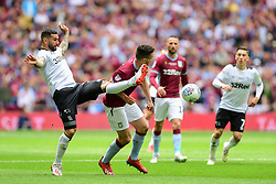 May 27, 2019 - London, England, United Kingdom - Bradley Johnson (15) of Derby County attempts to steel the ball from JohnMcGinn (7) of Aston Villa during the Sky Bet Championship match between Aston Villa and Derby County at Wembley Stadium, London on Monday 27th May 2019. (Credit: Jon Hobley | MI News) (Credit Image: © Mi News/NurPhoto via ZUMA Press)