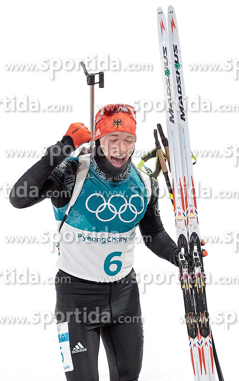 12.02.2018, Alpensia Biathlon Centre, Pyeongchang, KOR, PyeongChang 2018, Biathlon, Herren, Verfolgung, im Bild Benedikt Doll (GER, 3. Platz) // bronce medalist Benedikt Doll of Germany during the Mens Biathlon Pursuit of the Pyeongchang 2018 Winter Olympic Games at the Alpensia Biathlon Centre in Pyeongchang, South Korea on 2018/02/12. EXPA Pictures © 2018, PhotoCredit: EXPA/ Johann Groder