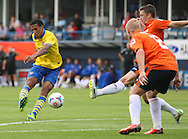 Picture by David Horn/Focus Images Ltd +44 7545 970036<br /> 03/08/2013<br /> Isaac Hayden of Arsenal XI shoots during the Friendly match at Kenilworth Road, Luton.
