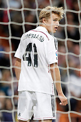 23.05.2015, Estadio Santiago Bernabeu, Madrid, ESP, Primera Division, Real Madrid vs FC Getafe, 38. Runde, im Bild Real Madrid's Odegaard // during the Spanish Primera Division 38th round match between Real Madrid CF and Getafe FCat the Estadio Santiago Bernabeu in Madrid, Spain on 2015/05/23. EXPA Pictures &copy; 2015, PhotoCredit: EXPA/ Alterphotos/ Acero<br /> <br /> *****ATTENTION - OUT of ESP, SUI*****