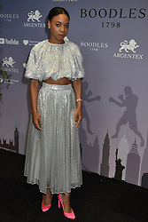 Pippa Bennett-Warner at the Boodles Boxing Ball, in association with Argentex and YouTube in Support of Hope and Homes for Children at Old Billingsgate London, United Kingdom - 7 Jun 2019 Photo Dominic O'Neil