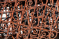 Ticino, Southern Switzerland. Valle Onsernone.  A pile of rusting ornamental iron forms an interesting pattern.