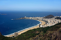 aerial view panorama from the sugar loaf from copacabana beach in rio de janeiro in brazil