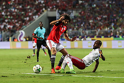 October 8, 2017 - Alexandria, Egypt - Egyptian midfielder Mohamed Elneny (L) in action  during the World Cup 2018 Africa qualifying match between Egypt and Congo at the Borg el-Arab stadium in Alexandria on October 8, 2017.  Egypt won 2-1. (Credit Image: © Ahmed Awaad/NurPhoto via ZUMA Press)