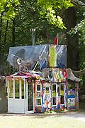 "dOCUMENTA (13) in Kassel, Germany..Karlsaue..Shinro Ohtake. ""MON CHERI: A Self-Portrait as a Scrapped Shed"", 2012."