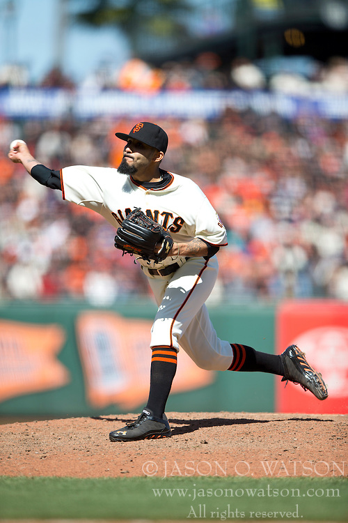 SAN FRANCISCO, CA - APRIL 26:  Sergio Romo #54 of the San Francisco Giants pitches against the Cleveland Indians during the ninth inning at AT&T Park on April 26, 2014 in San Francisco, California. The San Francisco Giants defeated the Cleveland Indians 5-3.  (Photo by Jason O. Watson/Getty Images) *** Local Caption *** Sergio Romo