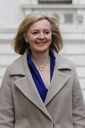 © Licensed to London News Pictures. 08/01/2020. London, UK. Secretary of State for International Trade LIZ TRUSS arrives in Downing Street. Photo credit: Dinendra Haria/LNP
