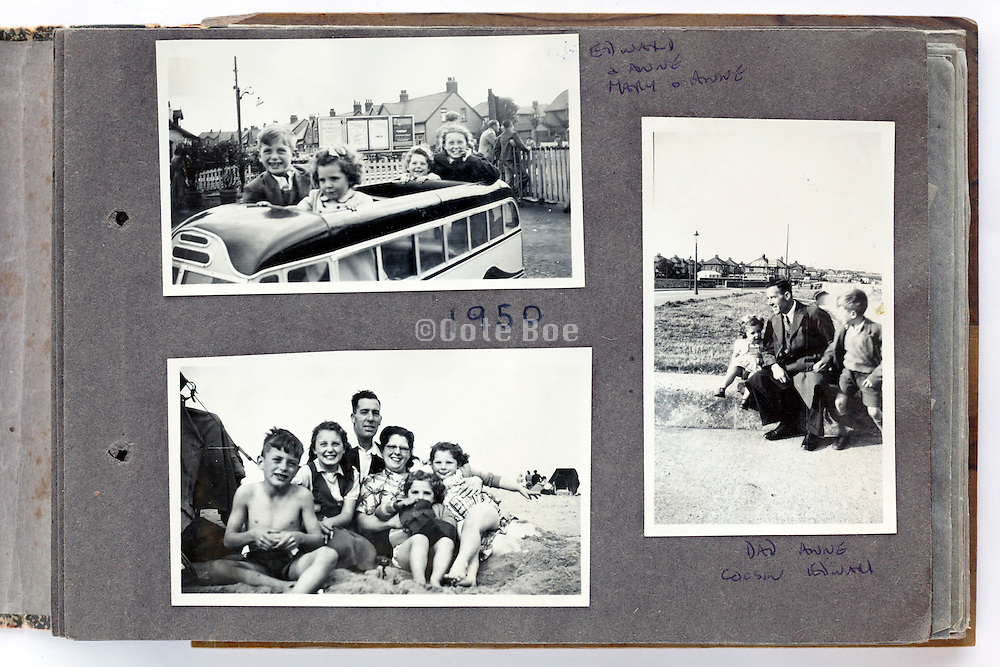 happy family moments photo album page 1950 England