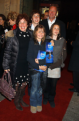 RUBY WAX her husband ED BYE and their children MADELAINE and right MARIANNA and ? at the press night of Cirque Du Soleil's 'Alegria' held at the Royal Albert, London on 5th January 2006.<br /><br />NON EXCLUSIVE - WORLD RIGHTS