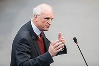 14 FEB 2019, BERLIN/GERMANY:<br /> Lothar Binding, MdB, SPD, Bundestagsdebatte, Plenum, Deutscher Bundestag<br /> IMAGE: 20190214-01-082<br /> KEYWORDS: Bundestag, Debatte
