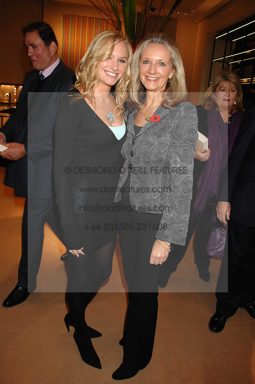 Left to right, MISS GEORGINA JONES and her mother JANINE JONES at a party to celebrate the publication of Lucia Van Der Post's  book 'Things I Wish My Mother Had Told Me' held at Asprey, New Bond Street, London on 8th November 2007.<br />